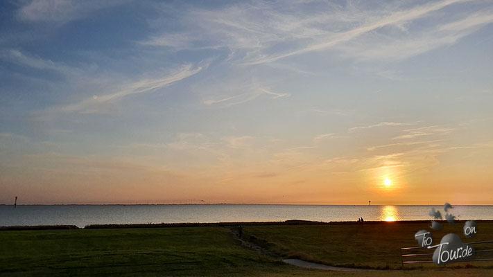 Imsum - Deichwiesen zum Sonnenuntergang