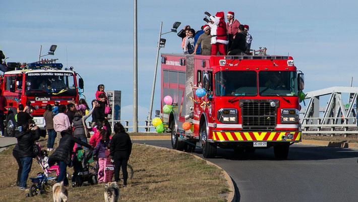 Punta Arenas - der Weihnachtsmann kommt...