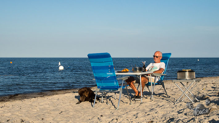 Ostsee - Grillen am Strand