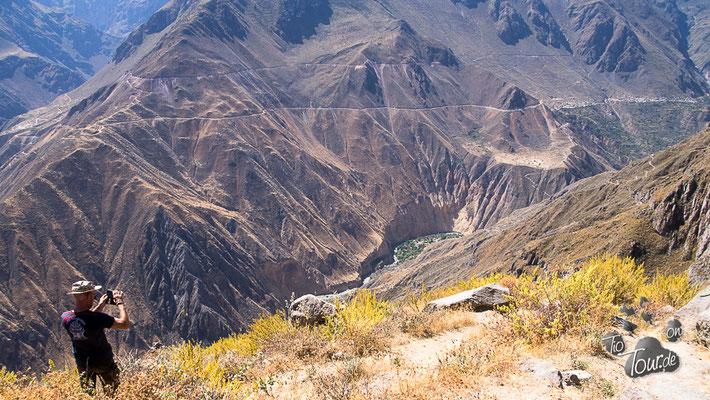 Colac-Canyon, Blick auf die Oase de Sandale