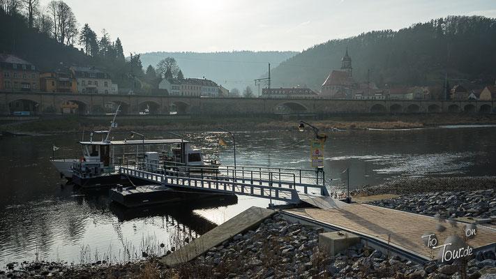 Mit der Personenfähre zurück nach Königstein
