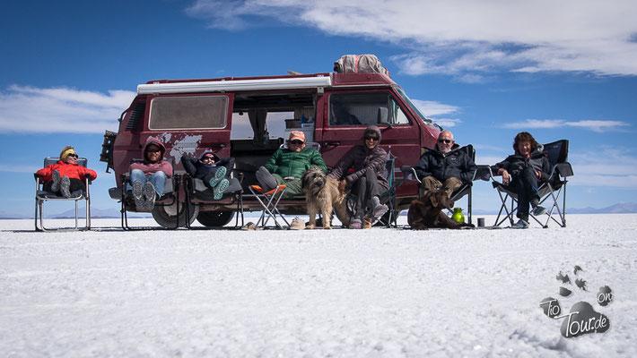 Salar de Uyuni - Sonnenbaden auf 10 Mrd. Tonnen Salz