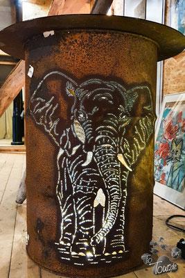 Feuertonne Elefant
