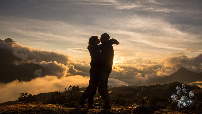 Auf dem Rückweg vom Machu Picchu - Stellplatz auf 4000m Höhe