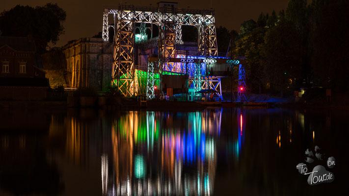 Illumination des alten Schiffshebewerks