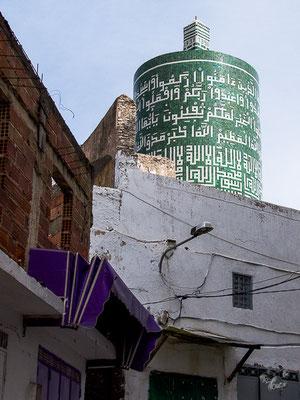 Moulay Idriss - einzige runde Moschee in Marokko