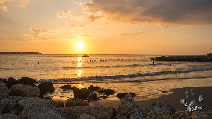 Cartagena - der Strand hinter dem Hilton-Hotel