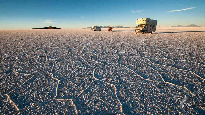 Salar de Uyuni - Übernachtung auf 10 Mrd. Tonnen Salz