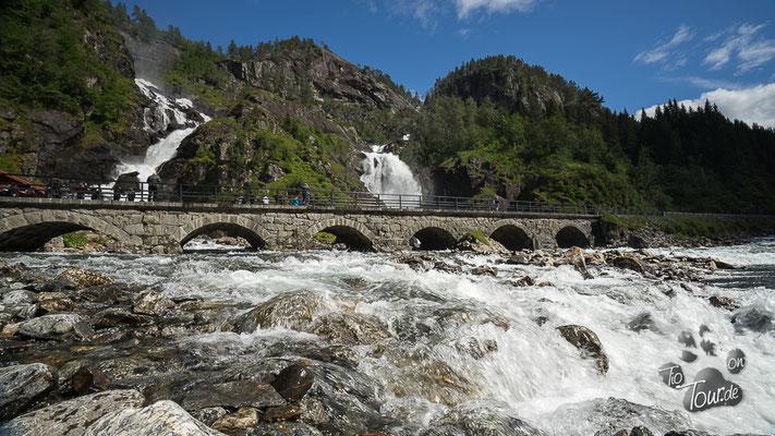 Latefossen - Zwillingswasserfall