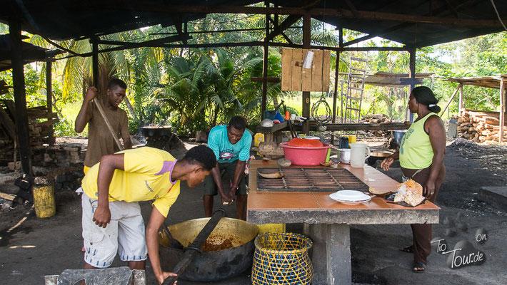 Zubereitung der Cocada