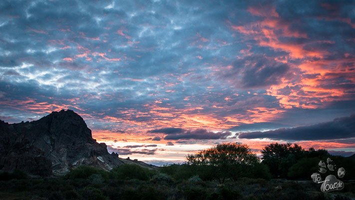 Sonnenuntergang in der Pampa