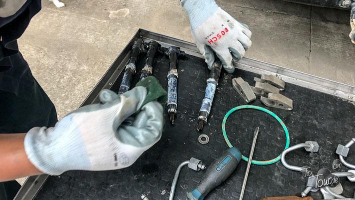 zu reinigende Dieselinjektoren