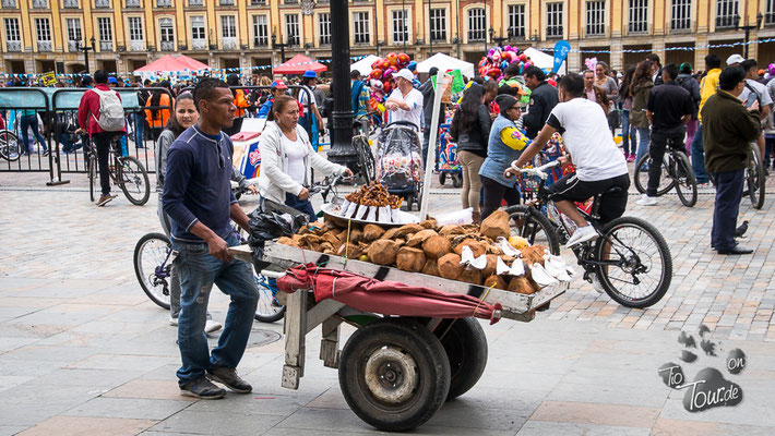 Bogotá - Kokosnüsse gefällig ?