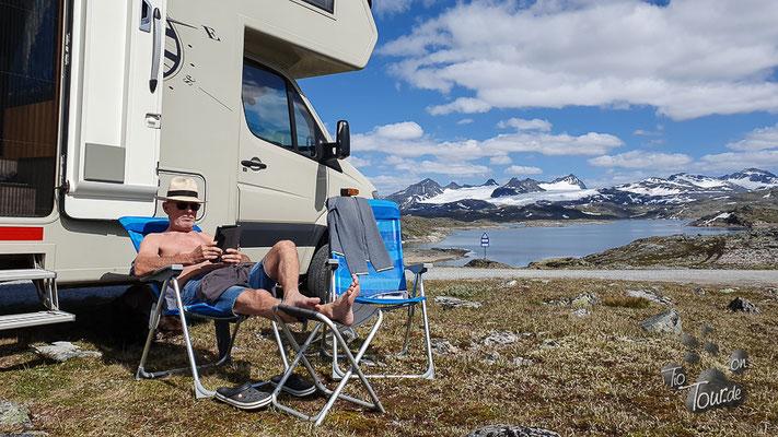 Sonnenbad auf dem Sognefjellet