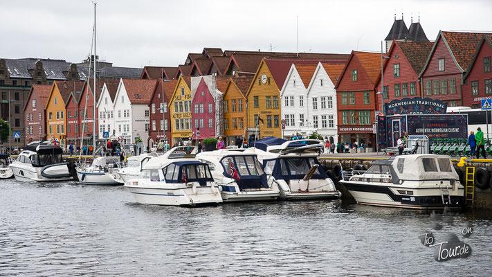 Blick auf Bryggen