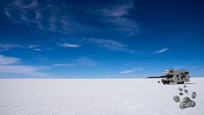Salar de Uyuni - einsamer Stellplatz