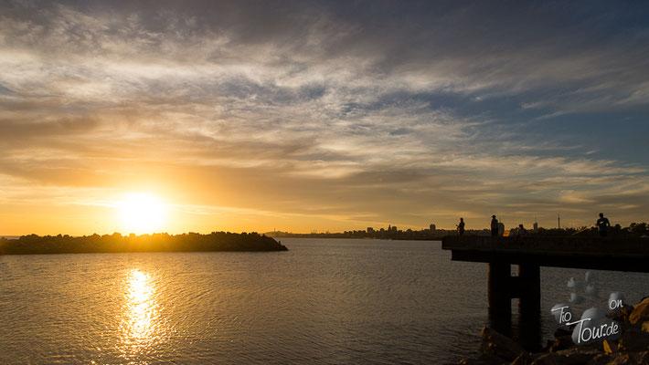 Montevideo im Sonnenuntergang