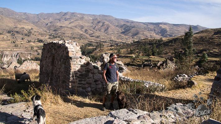 Colca-Canyon, Uyo Uyo - Inka-Ruinen