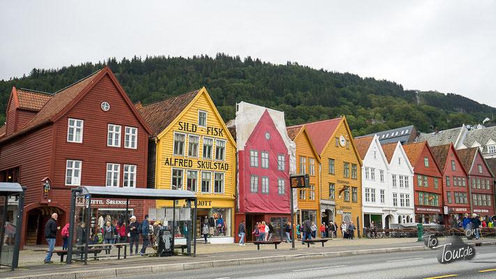 Holzhäuser in Bryggen