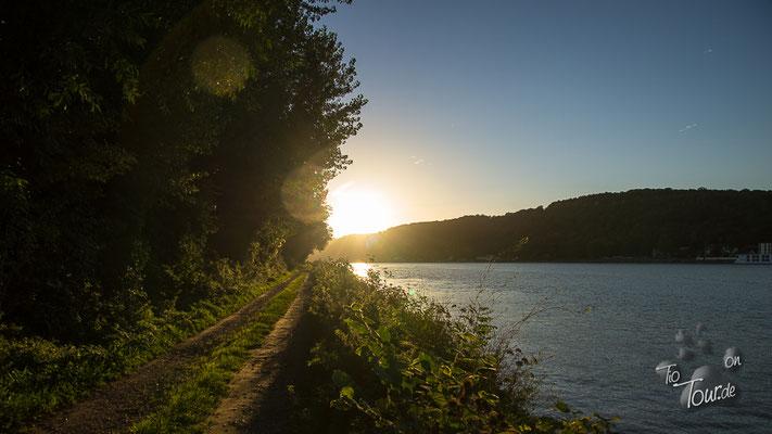 Saint Nicolas de Bliquetuit - Sonnenuntergang an der Seine