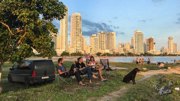 Cartagena - Sundowner mit den Schweizern