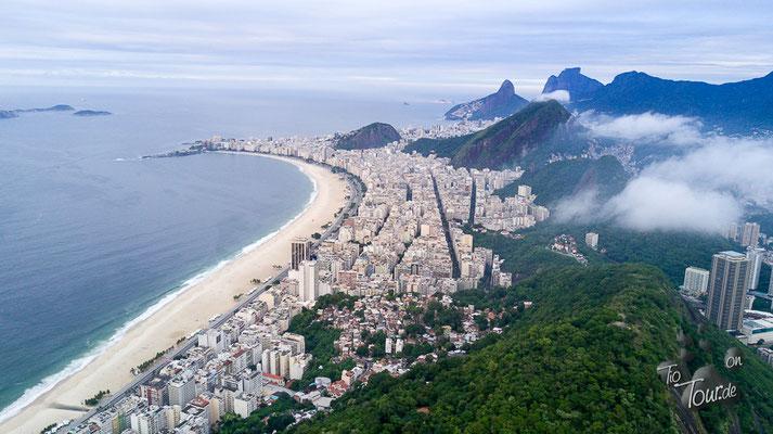 Copacabana aus Drohnensicht