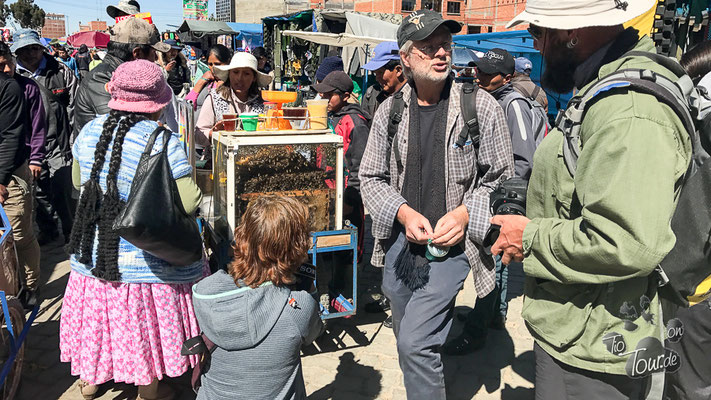 La Paz - El Mercado in El Alto - mit superleckerem Honig