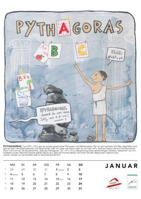 Januar*Pythagoras Kalender2021