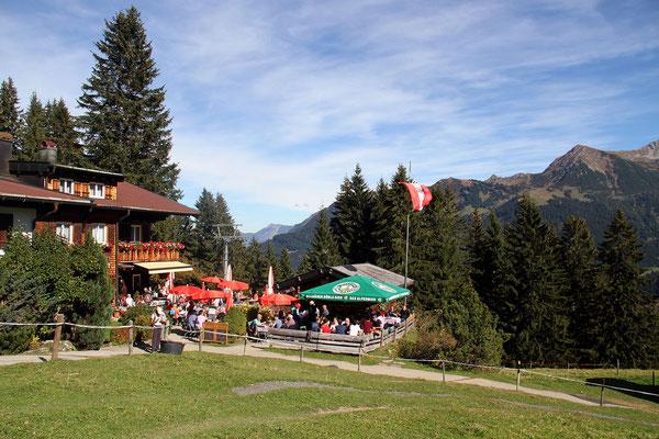 Berggasthof Bühlalpe, Kleinwalsertal – goldener Herbst