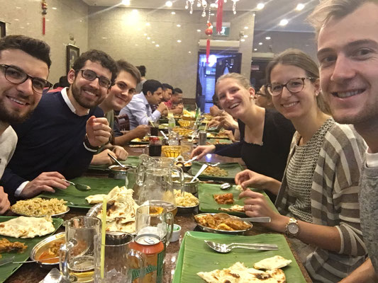 ETH students having indian diner