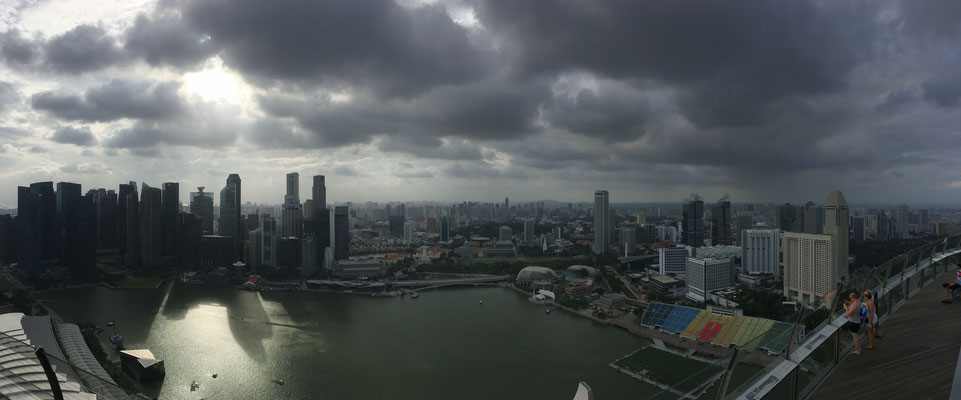 panorama picture above Singapore