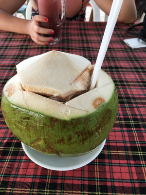 Pina Colada in a coconut