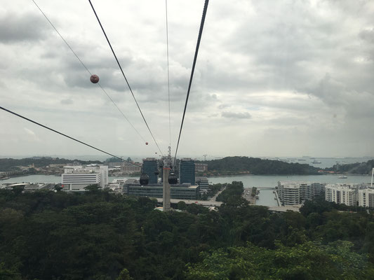 cable car to the island Sentosa