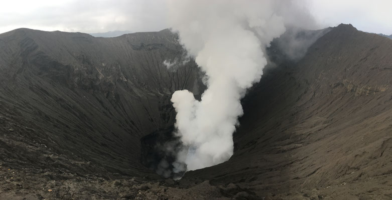 very active volcano (you can hear it!)