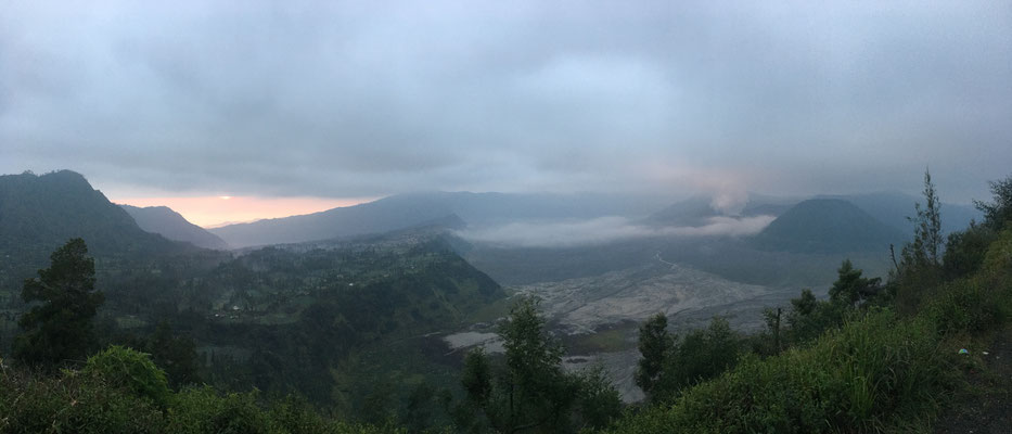 to enjoy the sunrise above Mount Bromo (volcano)