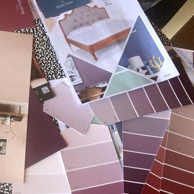 Farbauswahl und Mood-Board