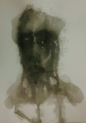 Layali Alawad, Aquarell, Portrait 1