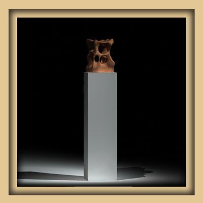 Digitale Skulptur, Walnuss, Ansicht fünf. Kunst von Marcus Löhrer auf der Aachener Kunstroute 2016
