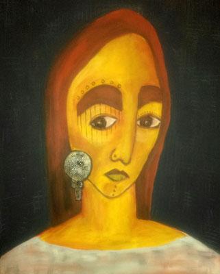 Layali Alawad, Acryl auf Leinwand, Portrait 3
