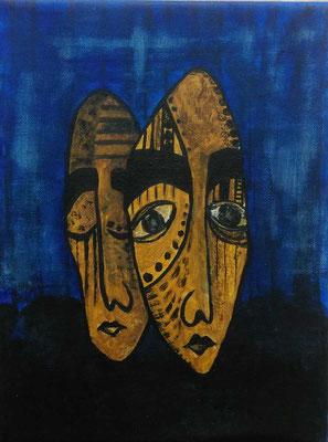Layali Alawad, Acryl auf Leinwand, Portrait mythologique 2