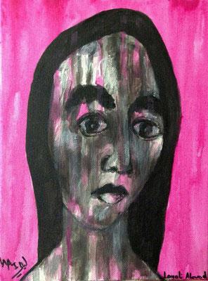 Layali Alawad, Acryl auf Leinwand, Portrait 11