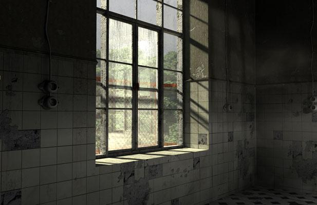 Leeres Fenster, verfallenes Gemäuer, lost spaces auf der Aauchener Kunstroute 2016