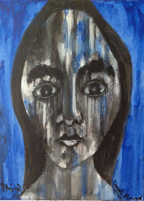 Layali Alawad, Acryl auf Leinwand, Portrait 12
