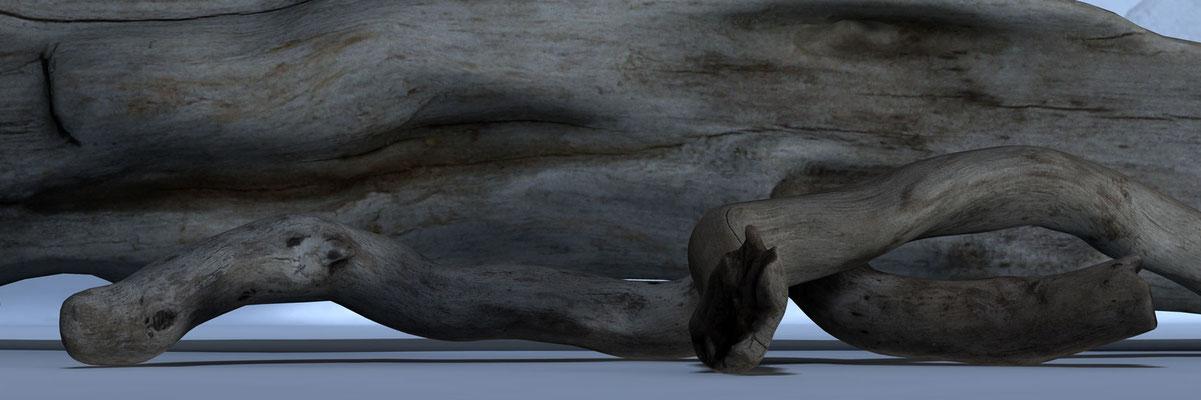 Driftwood 7, digitl art 3d, Marcus Löhrer auf der Aachener Kunstroute 2019