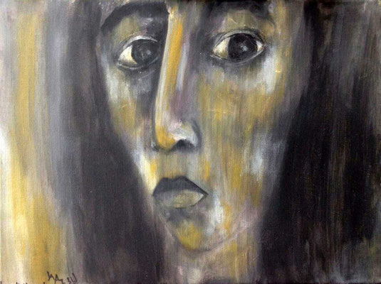 Layali Alawad, Acryl auf Leinwand, Portrait 14