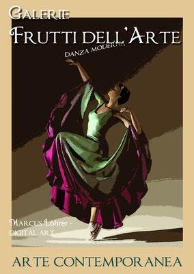 Plakat Entwurf dreizehn, Modern danze, Aachener Kunstroute am 23.,24.und 25.September