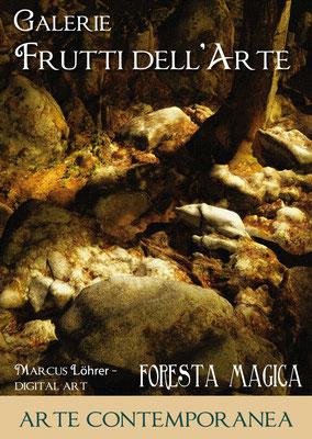 Plakat Entwurf zwei, Galerie Frutti dell'Arte, Aachener Kunstroute am 23.,24.und 25.September
