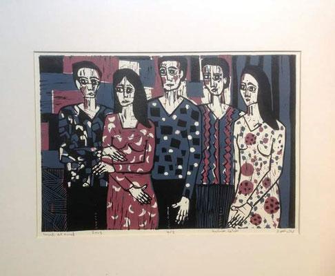 Layali Alawad, Linolschnitt, Familie 7