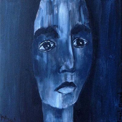 Layali Alawad, Acryl auf Leinwand, Portrait 13