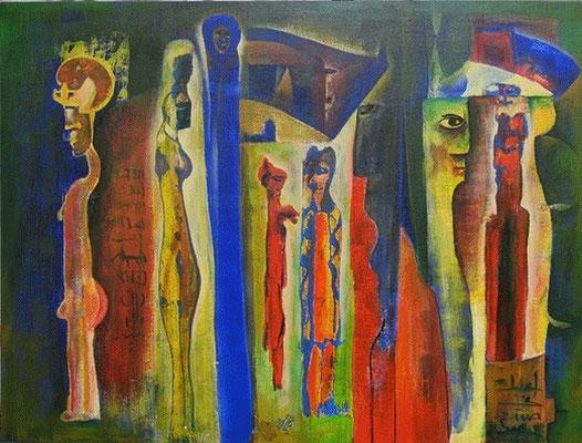 Ibrahim Alawad, Malerei, Acryl auf Leinwand 3 , Aachener Kunstroute 2019